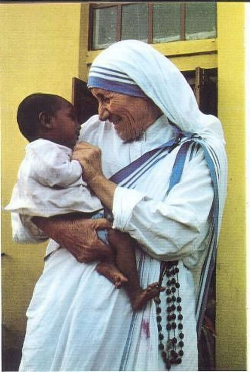 """I was once asked why I don't participate in anti-war demonstrations. I said that I will never do that, but as soon as you have a pro-peace rally, I'll be there."" ~Mother Teresa"