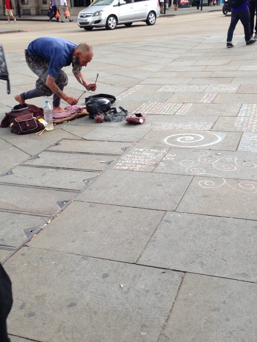 That zen encouraging, incense smoking, sidewalk chalk writing character I mentioned!