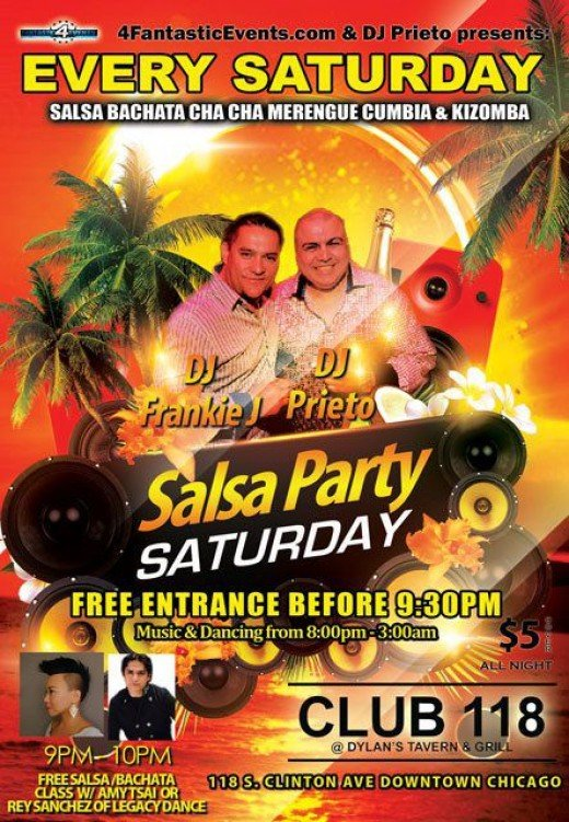 Salsa Party Saturdays at Dylan's Tavern & Grill