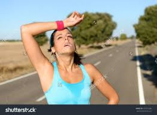 Generic stock photo exhibiting the anguish we all experience in summer heat