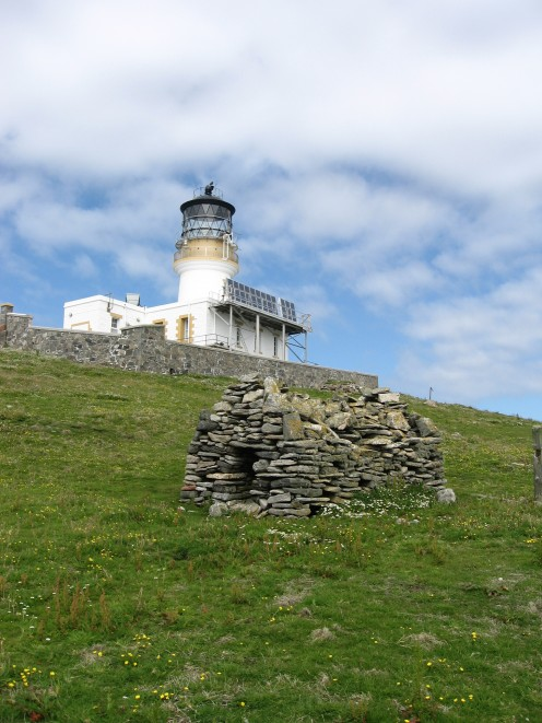 A view of the Flannan Isle lighthouse as we approach it.