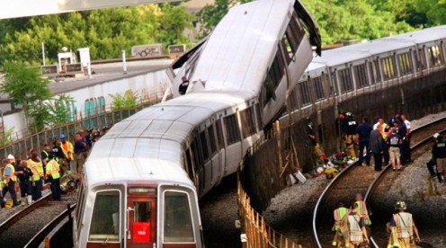 Washington DC Metro Subway Crash, June 23, 2009
