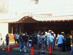The line at the Waco Hippodrome for the Waco Premiere of Risen:The Movie
