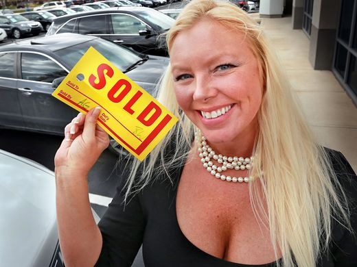This is  Audrey Green. She was the  top female  car salesperson at her lot