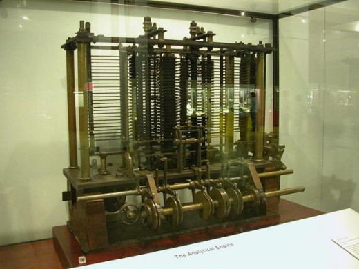 A photo of the Difference Engine constructed by the Science Museum based on the plans for Charles Babbage's Difference Engine