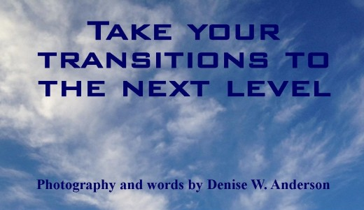 Transitions create conflict in our relationships. There are things we can do that strengthen us during the transition process and help us rise above conflict.
