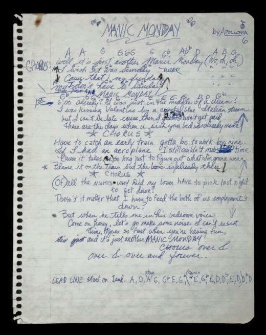 ...and the proof provided by Morris Day comes in Prince's hand-written lyrics!
