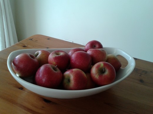 Apples are a wonderful source of fibre.