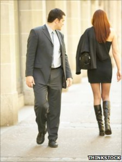Just because a man is well-dressed doesn't mean that he is innocent of being a stalker