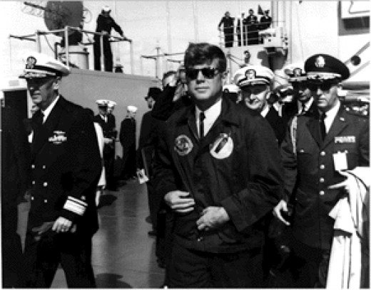 Although he butted heads with some generals, President John F. Kennedy enjoyed broad respect among the armed services because of meritorious conduct in World War II.