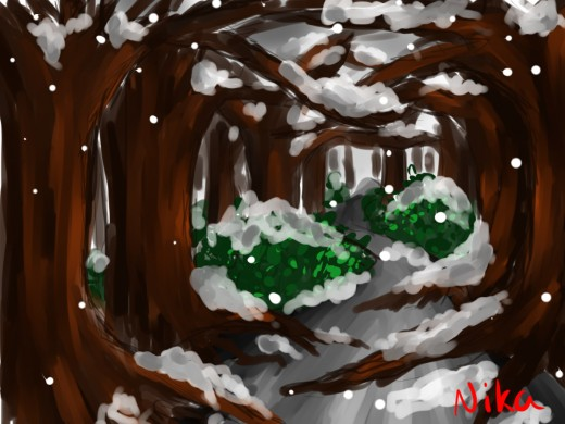 Snow Forest by Nika