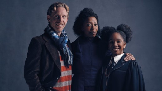 Paul Thornley, Noma Dumezweni, and Cherrelle Skeete who will be playing Ron, Hermione and their daughter Rose in Cursed Child at London's Palace Theater.