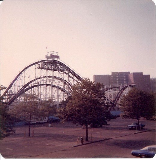 The Cyclone in Coney Island, Brooklyn, circa 1979.