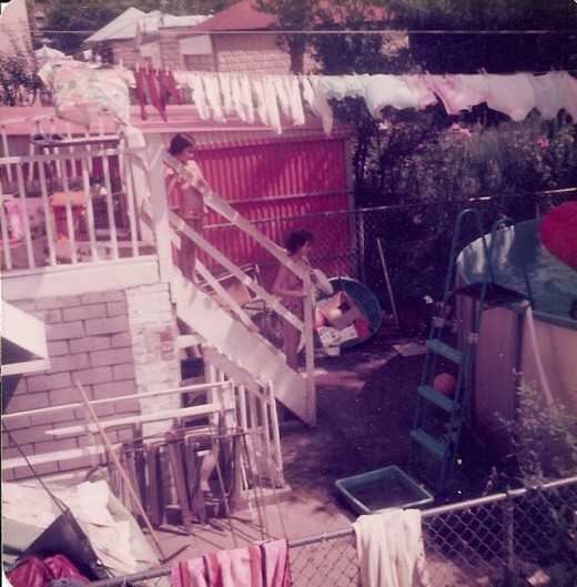 Back yards in Brooklyn, circa 1979.