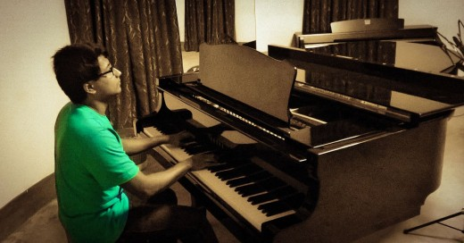 I love playing the piano. I love it so much that I've quit a promising career as a copy editor to be able to do it.