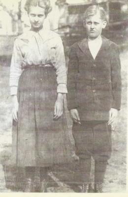Cora (Franklin) Dockery and George Franklin. Children of James Harley Franklin.