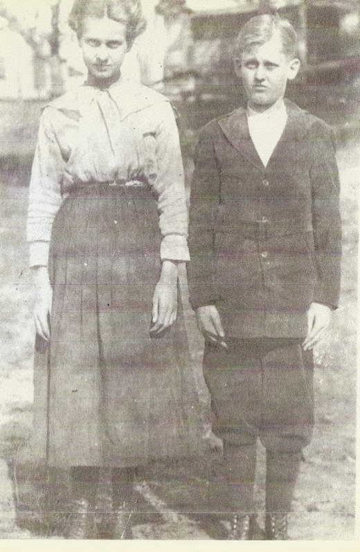 Cora (Franklin) Dockery and George Franklin. Children of James Harley Franklin.