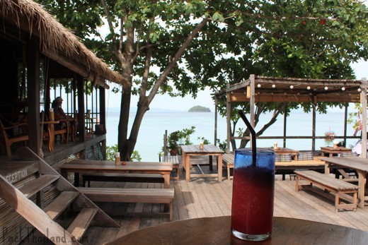 The view from the restaurant at Castaway Resort, a popular hotel on Koh Lipe Island