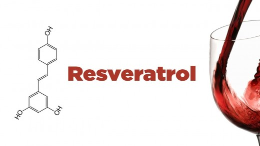 Resveratrol with chemical structure