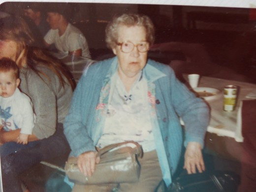 My maternal grandmother, Katherine Rood. Picture was taken at a family reunion back in the late 60s.