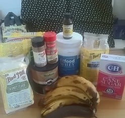 Suprise! Chocolate peanut butter banana bread using unusal ingredients