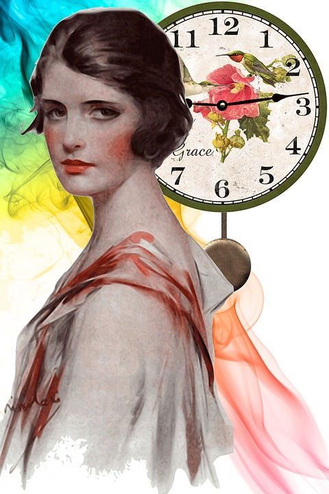 Time, girl, vintage CC0 Public Domain