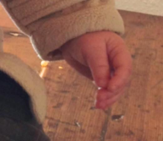 Baby gentle hands!