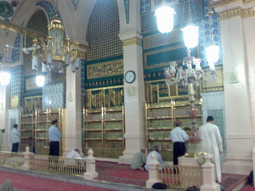 Hujrah is the chamber in which Mohammad died.