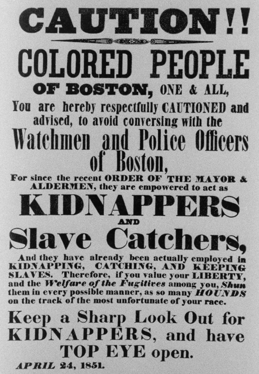 Warning Of Kidnappers And Slave Catchers.