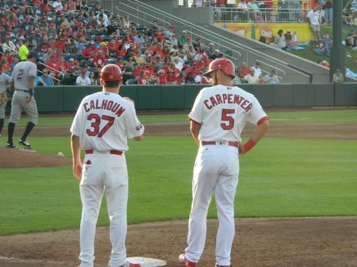 Matt Carpenter on first base.