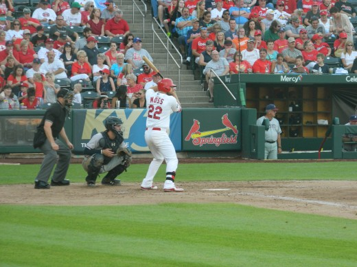 Brandon Moss at bat.