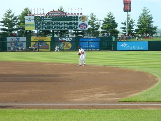 Matt playing second base.