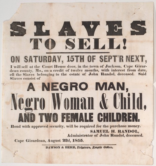 Slavery Was A Legal Practice For Centuries.