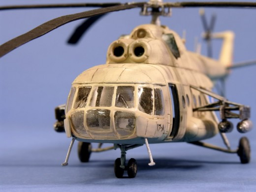 Mil - 8 transport helicopter.