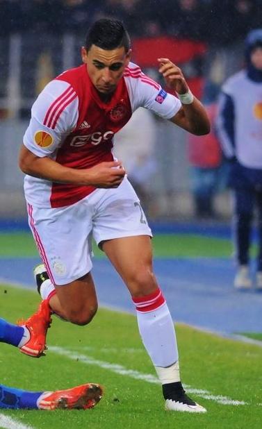 Anwar El Ghazi (winger) playing for Ajax
