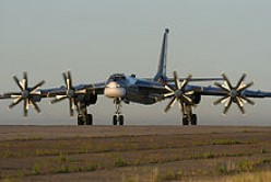 The ageing yet lethal plane of the Russian air force the Tupelov-95 or Bear
