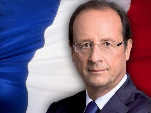 François Hollande, AKA, the president of France, Looking as patriotic as ever.