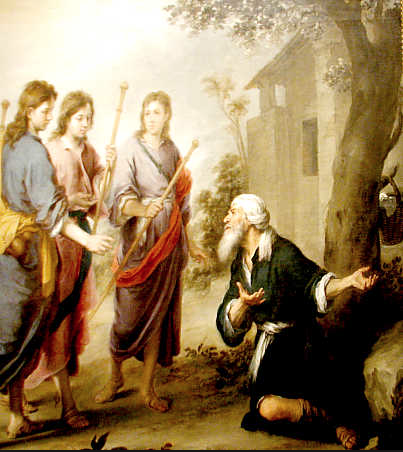 The Lord and His angels visit Abraham