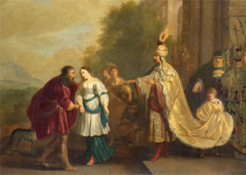 King Abimelech gives Sarah back to Abraham