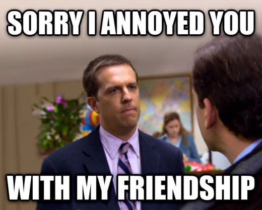 10/10 would ignore a group chat with Andy Bernard.