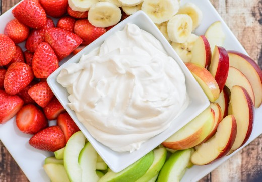 Use greek or fruit flavored yougurt as dip for a fruit tray.