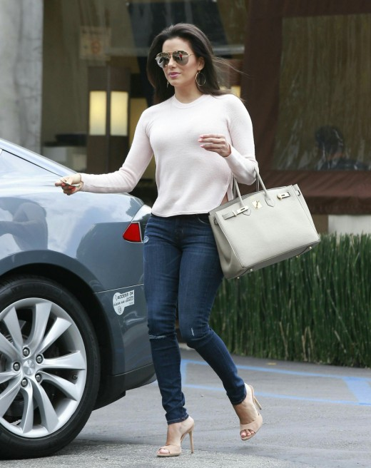Eva Longoria in impossibly tight skinny jeans
