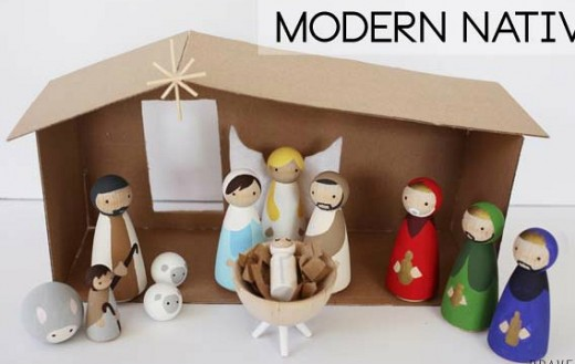 40 beautiful nativity craft ideas feltmagnet modern peg doll nativity solutioingenieria Image collections