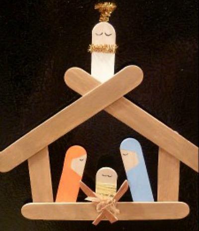 40 beautiful nativity craft ideas feltmagnet popsicle stick nativity solutioingenieria Choice Image