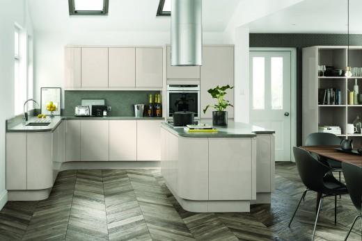 Handless doors kitchen