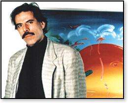 This is Peter Max. His colorful, psychedelic artwork gave him a great living, but his work was used on a lot of LP covers