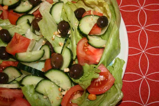 Tomatoes in salads are so versatile.