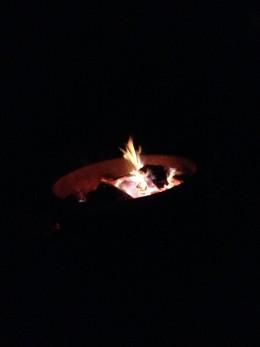 Metal Ring Around Campfire