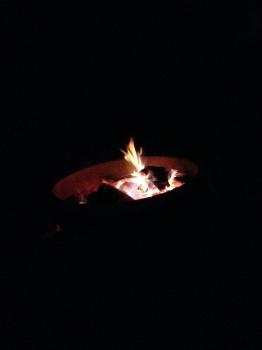 Metal Ring Around Campfire