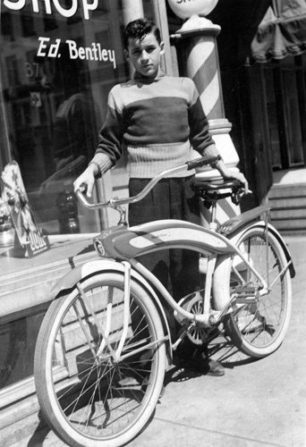 Cool kid with  bike in late 30's  or early 40's